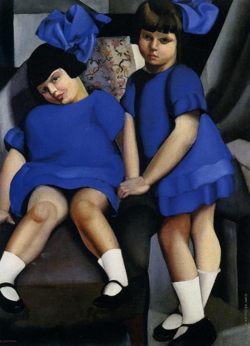Лемпицка Т. Б. Две девочки с бантами