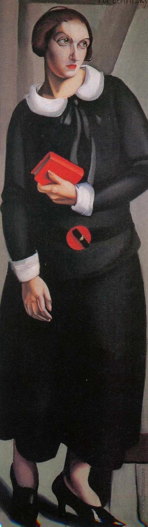 Лемпицка Т. Б. Женщина в черном платье