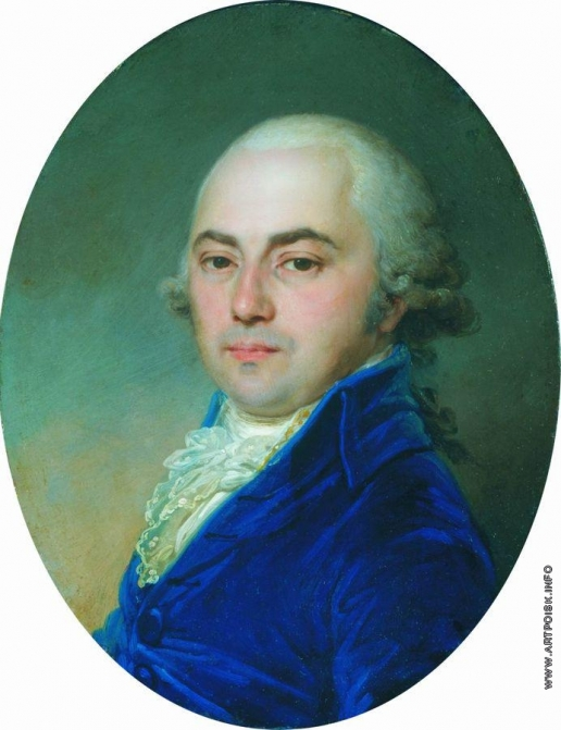 Боровиковский В. Л. Портрет неизвестного в синем кафтане