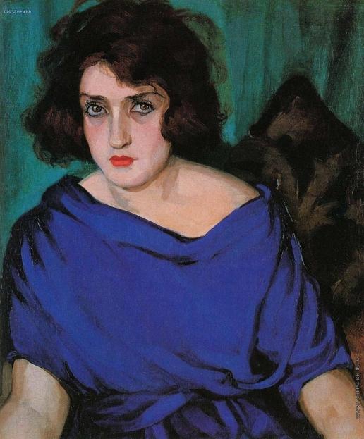 Лемпицка Т. Б. Портрет девушки в голубом платье