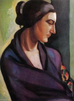 Лемпицка Т. Б. Женщина в шали. Профиль