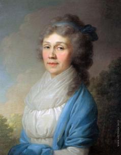 Боровиковский В. Л. Портрет неизвестной в голубой шали