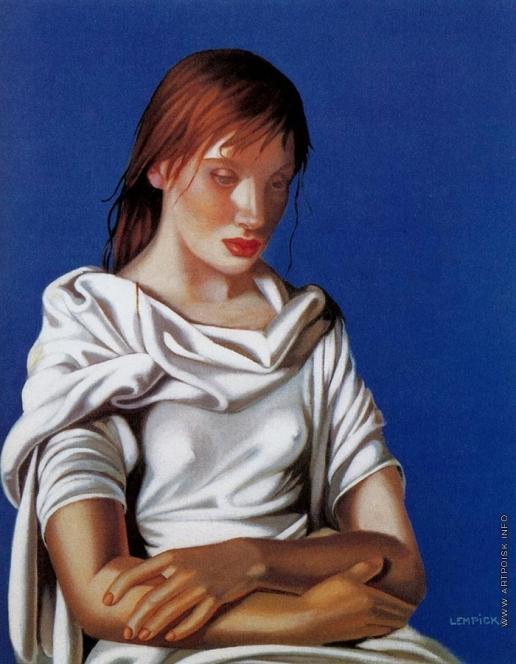 Лемпицка Т. Б. Девушка со сложенными руками