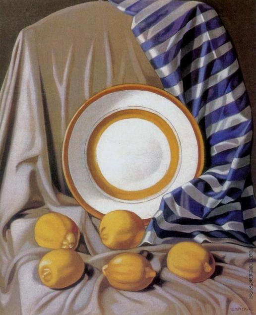 Лемпицка Т. Б. Натюрморт с лимонами и тарелкой