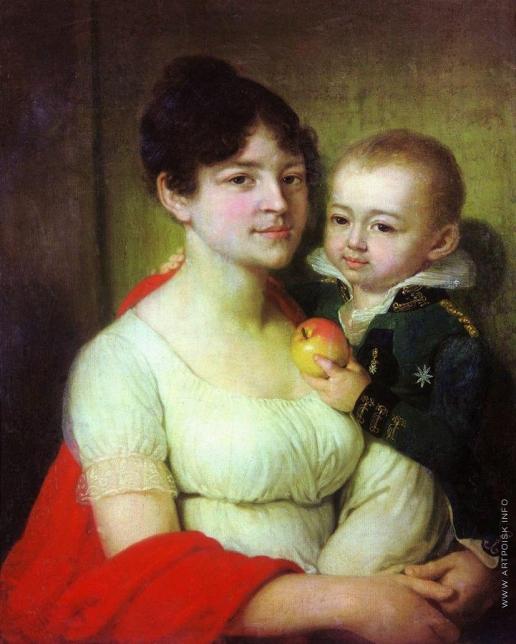 Боровиковский В. Л. Портрет неизвестной с ребенком