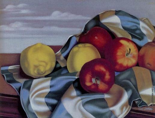 Лемпицка Т. Б. Натюрморт с яблоками и лимонами