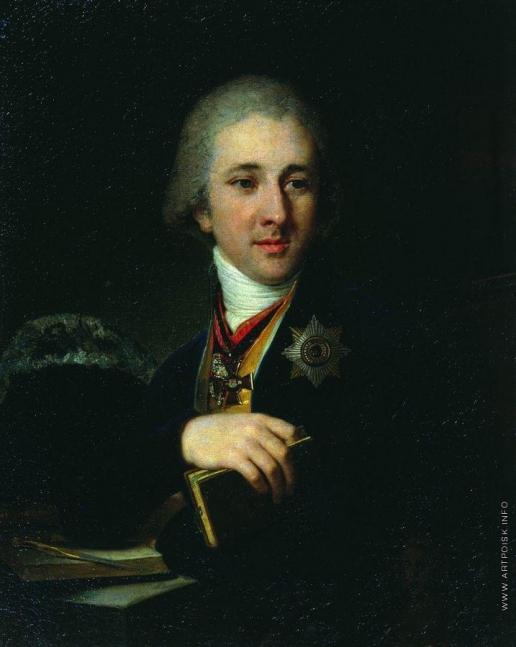 Боровиковский В. Л. Портрет писателя, масона Александра Федоровича Лабзина в синем кафтане