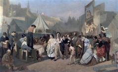 Перов В. Г. Праздник в окрестностях Парижа (На Монмартре)