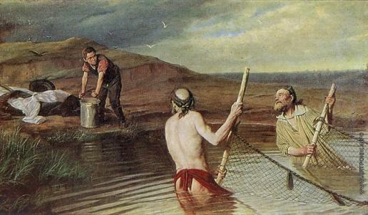 Перов В. Г. Рыбаки. (Священник, дьякон и семинарист)