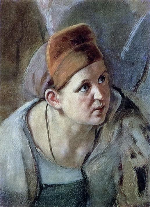 Перов В. Г. Склоненная женская фигура