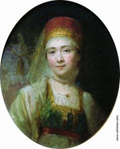 Боровиковский В. Л. Портрет торжковской крестьянки Христиньи