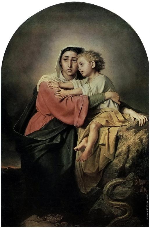 Перов В. Г. Христос и Богоматерь у житейского моря