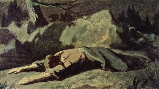 Перов В. Г. Христос в Гефсиманском саду. (Эскиз)