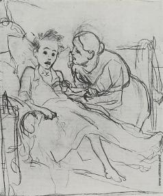 Перов В. Г. Мать с больным ребенком