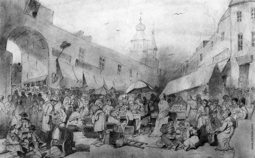 Перов В. Г. Толкучий рынок в Москве