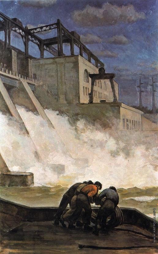 Окушко Р. В. На Дубоссарской ГЭС