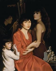 Бочаров С. П. Семейный портрет в чёрной раме. Мастерская