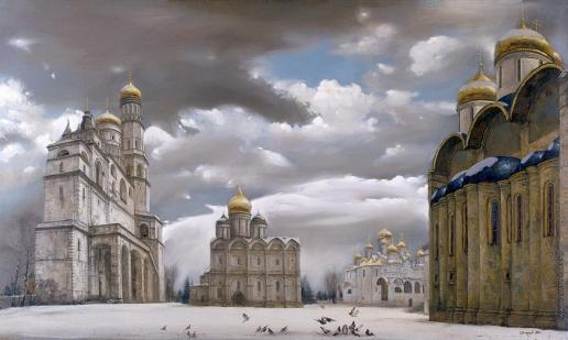 Бочаров С. П. Кремль. Соборная площадь зимой
