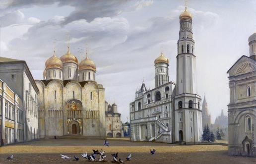 Бочаров С. П. Соборная площадь Московского Кремля