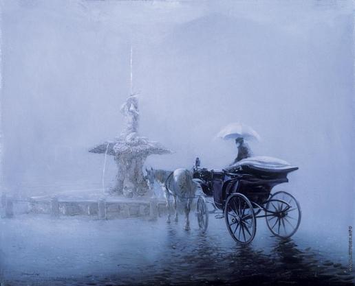 Бочаров С. П. Дождливый Рим. Площадь Барберини