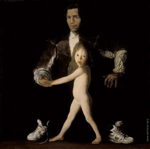 Бочаров С. П. Автопортрет с дочерью