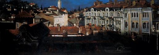 Бочаров С. П. Вид на старую Ялту с гостиницы «Крым»