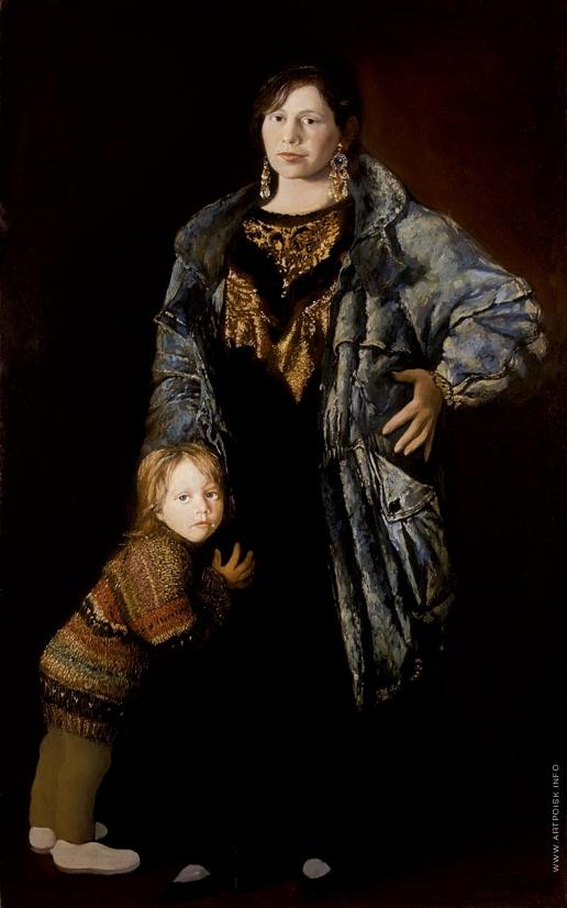 Бочаров С. П. Портрет жены с дочерью