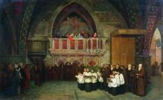 Боткин М. П. Вечерня в церкви Святого Франциска в Ассизи