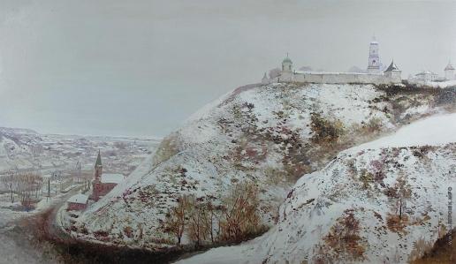 Бочаров С. П. Тобольский Кремль в зиму. Вид на Никольский спуск