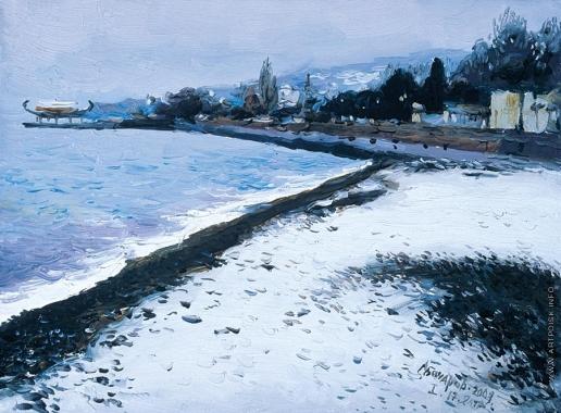 Бочаров С. П. Пляж на набережной зимой