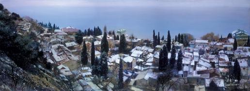 Бочаров С. П. Ялта. Белый снег на зеленых листьях. Слободка
