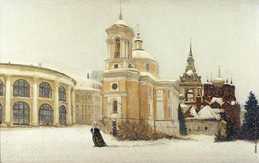 Бочаров С. П. Улица Разина. Снег