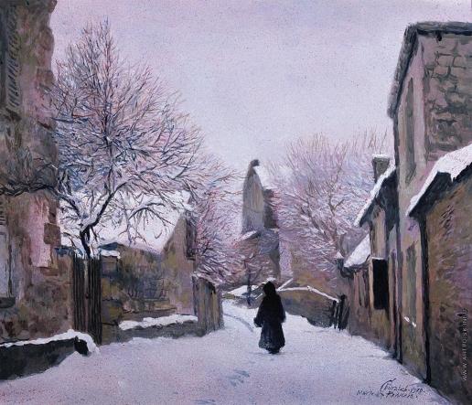 Бочаров С. П. Франция. Первый снег
