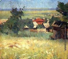 Греков М. Б. Вид из окна мастерской