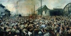 Бродский И. И. Выступление В.И.Ленина на митинге рабочих Путиловского завода в мае 1917 года