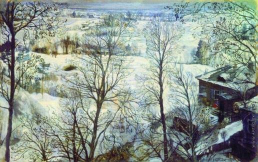 Бродский И. И. Зимний пейзаж