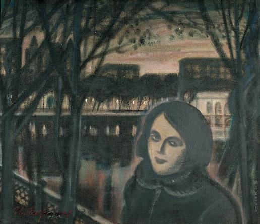 Обросов И. П. Женский портрет. На Патриарших прудах