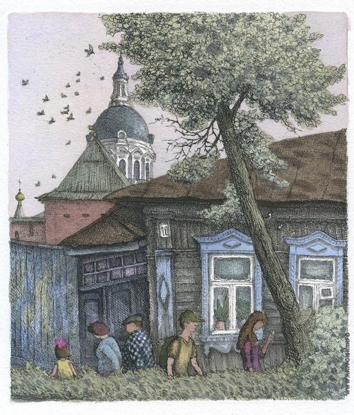 Дергилева А. И. Зарайск. Улица к реке