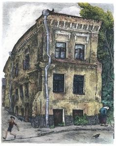 Дергилева А. И. Домик в Петропавловском переулке