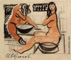 Обросов И. П. Женщины в бане