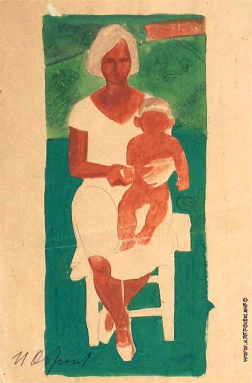 Обросов И. П. Эскиз к картине «Мама»
