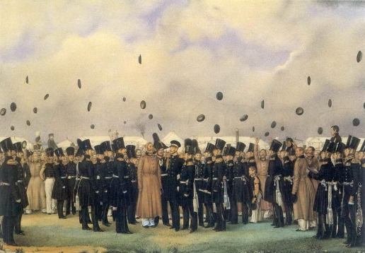 Федотов П. А. Встреча в лагере лейб-гвардии Финляндского полка вел. Кн. Михаила Павловича 8 июля 1837 года
