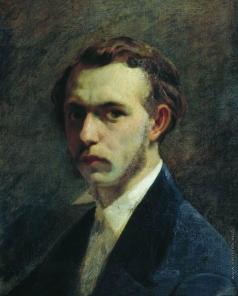 Бронников Ф. А. Автопортрет художника в молодости