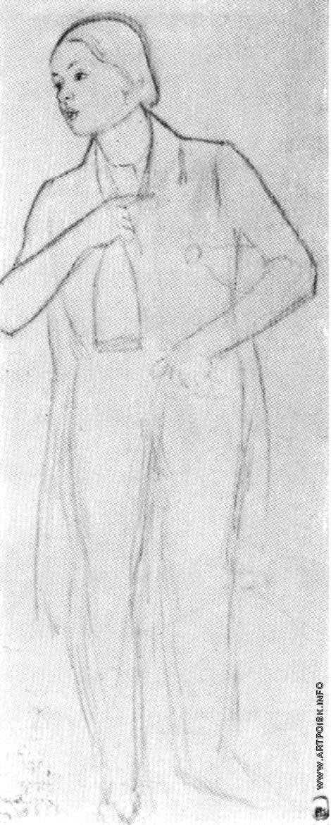 Федотов П. А. Сиделец с бутылкой. Набросок к картине «Сватовство майора»