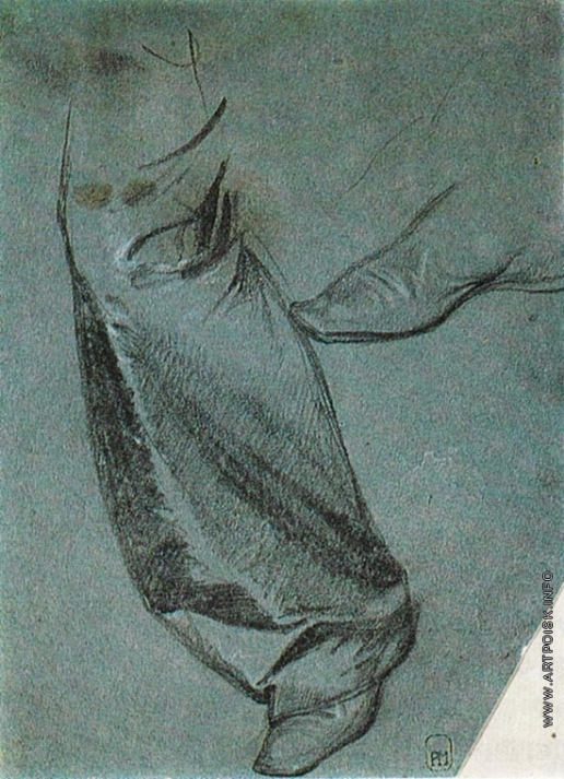 Федотов П. А. Правая нога в шелковых шароварах