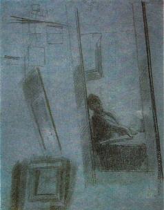 Федотов П. А. Игрок, сидящий за столом (отражение в зеркале)