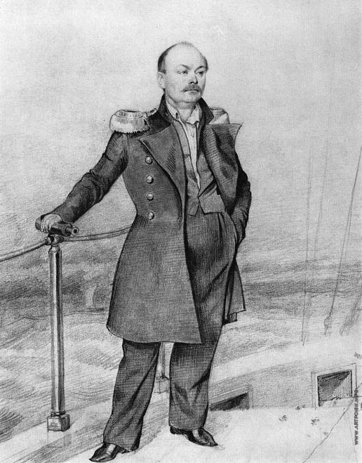 Федотов П. А. Портрет С.Д. Шишмарева на борту корабля