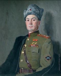Китайка К. Д. Портрет дважды героя СССР генерал-лейтенанта В.С. Петрова