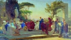 Бронников Ф. А. Гораций читает свои сатиры меценату