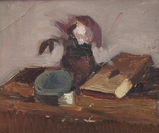 Саинчук Г. В. Натюрморт. Книга с вазой и цветами